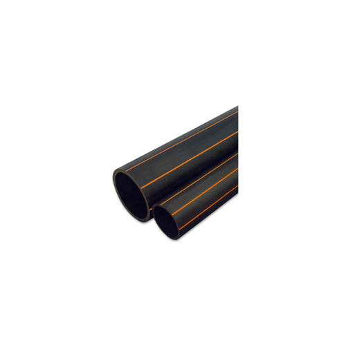 Super Products ท่อ LDPE แรงดัน 4 บาร์-คาดส้ม 63 มม. 100 ม. 014-063040100 สีดำ