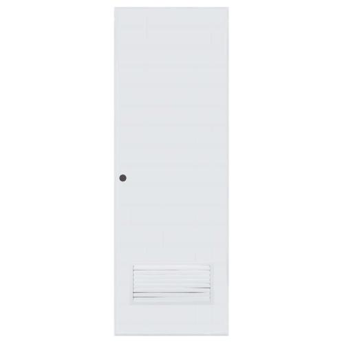 BATHIC ประตู PVC ขนาด 60x180 ซม. เจาะ BC2 สีขาว