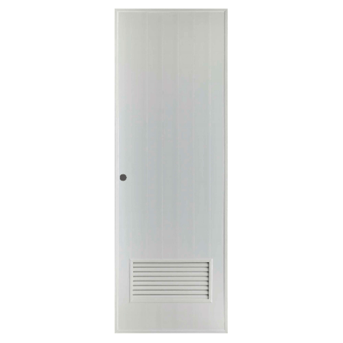 BATHIC ประตูพีวีซี ขนาด 70x193 ซม. เจาะ BS2 สีเทา