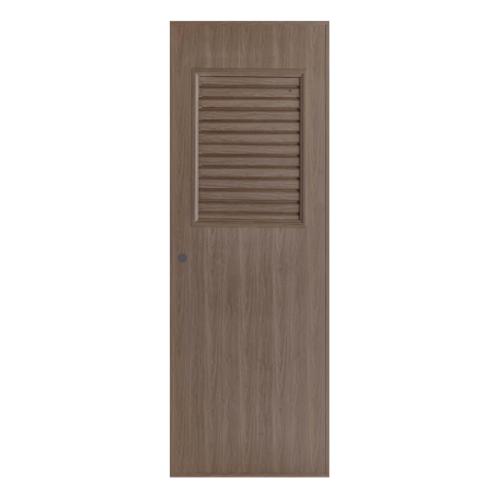 BATHIC ประตูพีวีซี  ขนาด 70x150 ซม. สีโอ๊ค (เจาะ)  BL3
