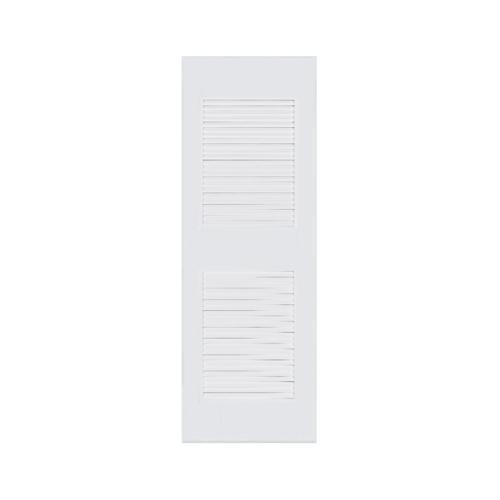 BATHIC ประตูพีวีซี เกล็ดครึ่งบาน บน-ล่าง60x70ซม.  (ไม่เจาะ) BC4 สีขาว