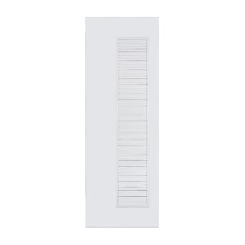 BATHIC ประตูพีวีซี เกล็ดข้างตลอดบาน 100x200ซม.  (ไม่เจาะ) BC5  สีเทา