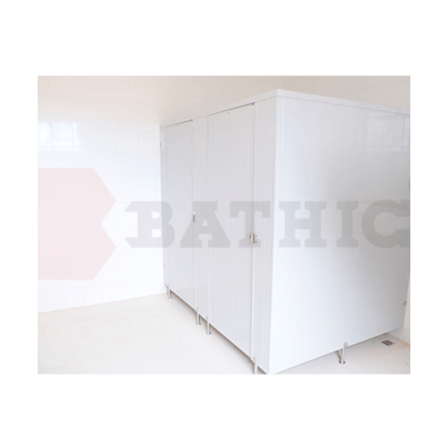 BATHIC ผนังห้องน้ำพีวีซี แผงพาร์ทิชั่น ขนาด  30x200 cm. สีเทา