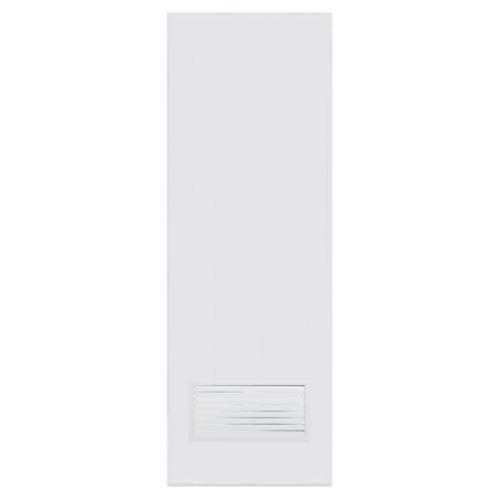 BATHIC  ประตูพีวีซี เกล็ดล่าง ขนาด 76x200ซม.  (ไม่เจาะ) BC2 สีขาว