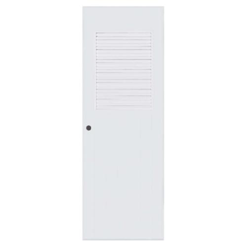 BATHIC  ประตูพีวีซี เกล็ดครึ่งบานบน ขนาด  81x200ซม.  (เจาะ) BC3 สีขาว