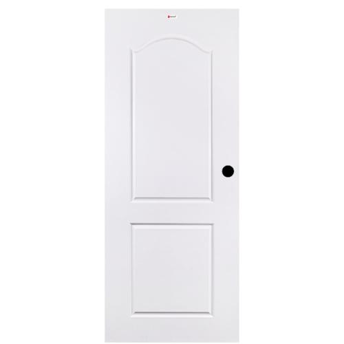 BATHIC ประตูยูพีวีซี ขนาด 90x200ซม. (เจาะรูลูกบิด) BTU201 สีขาว