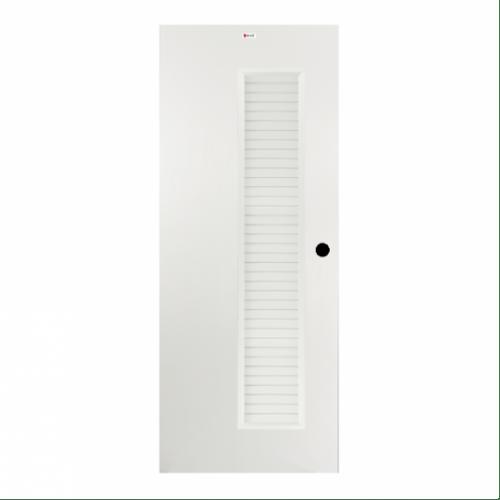 BATHIC ประตูยูพีวีซี ขนาด 90x200 ซม. BUL05 สีขาวผิวเรียบ (เจาะรูลูกบิด) ขาว