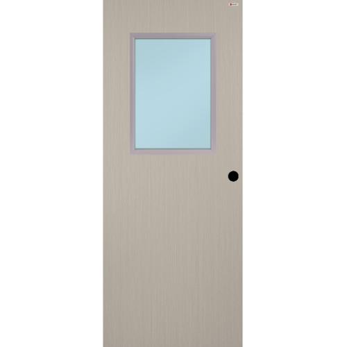 BATHIC ประตูยูพีวีซี ขนาด 90x200ซม.  BWG03 (กระจกฝ้า) สีลาเต้ (เจาะรูลูกบิด)