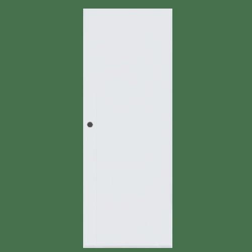 BATHIC ประตูพีวีซี ขนาด 59x178 ซม. BC1 (เจาะรูลูกบิด) สีขาว