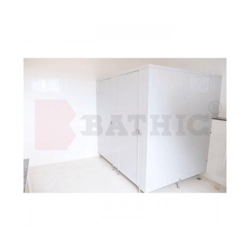 BATHIC บานพาร์ติชั่น 180x140 สีครีม PT