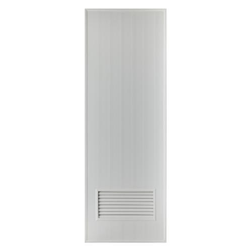 BATHTIC ประตูพีวีซี  ขนาด 80x180 ซม. ไม่เจาะ  BS2 สีเทา