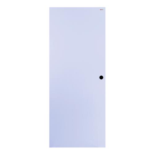 BATHIC ประตูไม้สังเคราะห์ ขนาด 90x200ซม. ผิวลายเสี้ยน (เจาะรูลูกบิด) BWP01 สีขาว
