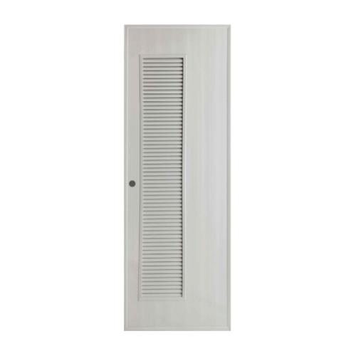 BATHIC ประตูพีวีซี ขนาด 60x180 ซม. (เจาะ)  BS5 สีเทา