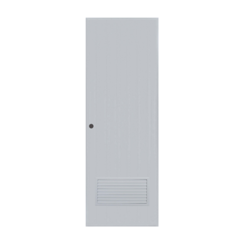 BATHIC ประตูพีวีซี ขนาด 69.5x173 ซม.  (เจาะ)  BC2 สีเทา