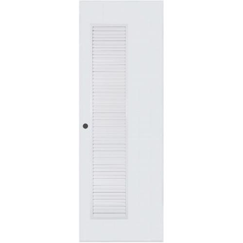 BATHTIC ประตู PVC เกล็ดข้างตลอด ขนาด 70cm.x200cm. เจาะ BC5  สีขาว