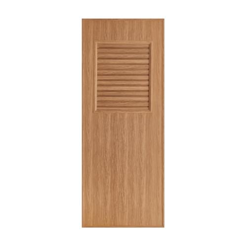 BATHIC ประตูพีวีซีลายไม้ เกล็ดครึ่งบานบน ขนาด 70x180ซม. สีบีช (ไม่เจาะ) BL3