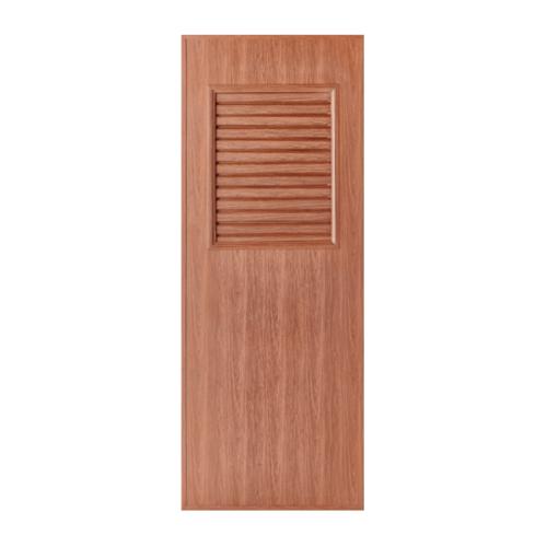 BATHIC ประตูลายไม้ ขนาด 70x180 สีทีค (ไม่เจาะ)  BL3