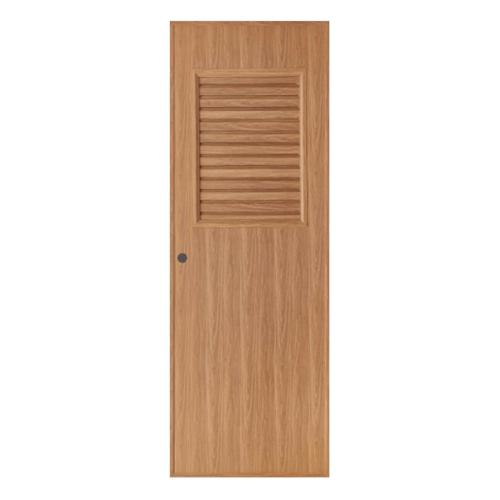 BATHIC ประตูพีวีซีลายไม้ เกล็ดครึ่งบานบน ขนาก  70x180ซม. สีบีช (เจาะ) BL3