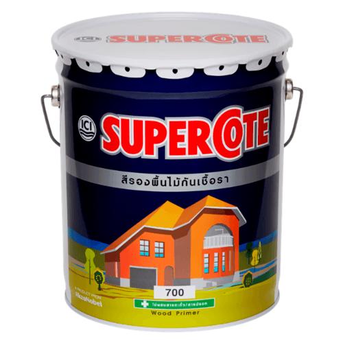 Dulux สีรองพื้นไม้กันเชื้อรา S/C  700 ถัง SUPERCOTE WOOD PRIMER