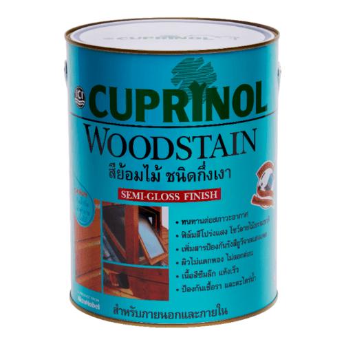 Dulux สีย้อมไม้คิวปรีโนลกึ่งเงา-ไม้สักทอง 002 1กล. Cuprinol Woodstain