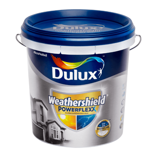 Dulux เวเธอร์ชีลด์พาวเวอร์เฟล็กกึ่งเงา เบสB 9L Weathershield Powerflexx
