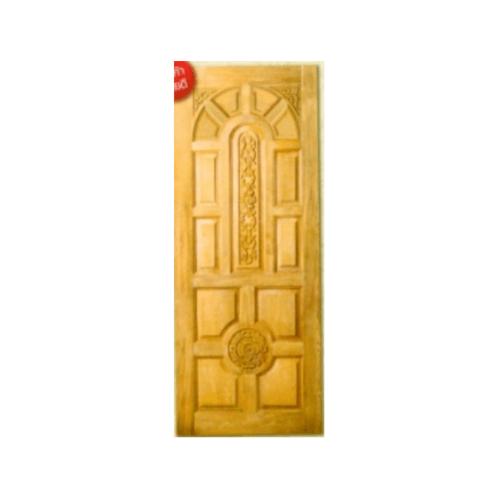MAZTERDOOR ประตูไม้สยาแดง บานทึบลูกฟักแกะลาย ขนาด 100x200ซม.   G-917