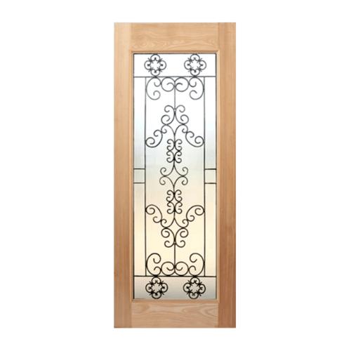 Masterdoors ประตูกระจกสยาแดง ขนาด 80x200 cm.  STMD-003