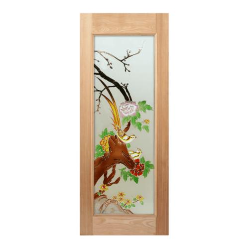 MAZTERDOOR ประตูกระจกไม้นาตาเซีย 80x200 cm. Art-02