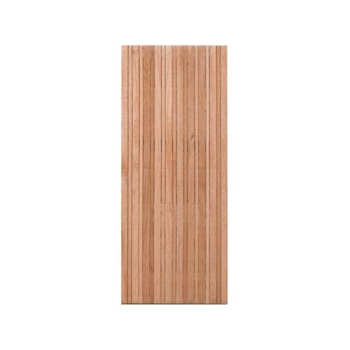 MAZTERDOOR ประตูไม้สยาแดง บานทึบทำร่อง ขนาด 100x200ซม.  NM-11
