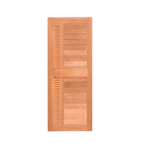 MAZTERDOOR  ประตูไม้สยาแดง ทำร่องพร้อมเกล็ดข้าง  ขนาด 70x200ซม.