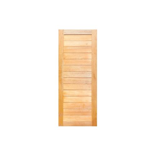 MAZTERDOOR  ประตูไม้เนื้อแข็งบานทึบทำร่อง ขนาด 80x200ซม.  NM-02