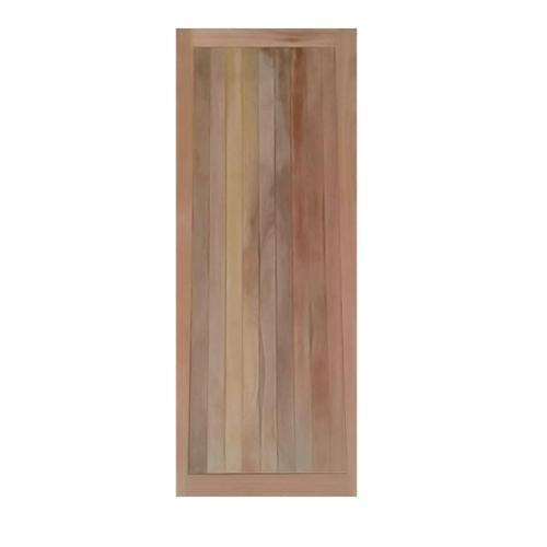 MAZTERDOOR  ประตูไม้เนื้อแข็ง เซาะร่องน้ำฝน  ขนาด 80x200ซม.