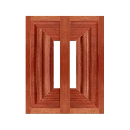 MAZTERDOOR ประตูกระจกไม้เนื้อแข็ง ขนาด 80x200ซม. NM-12(ช่องกระจก)