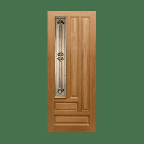 MAZTERDOOR ประตูกระจกไม้เนื้อแข็ง ขนาด 100x220 ซม. Jasmine-04
