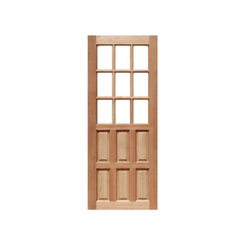 Masterdoors ประตูไม้สยาแดง ลูกฟักพร้อมกระจก  70x200cm.  MD-03/2