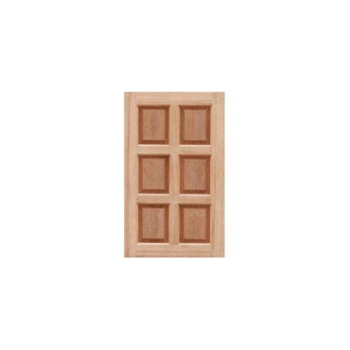 MAZTERDOOR บานหน้าต่างไม้สยาแดง บานทึบ6ฟัก ขนาด46x100cm