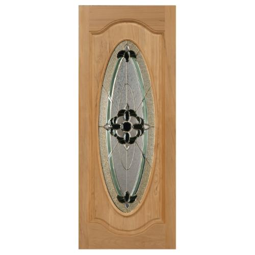 MAZTERDOOR ประตูกระจกไม้สยาแดง ขนาด 90x200cm. ORCHID-06