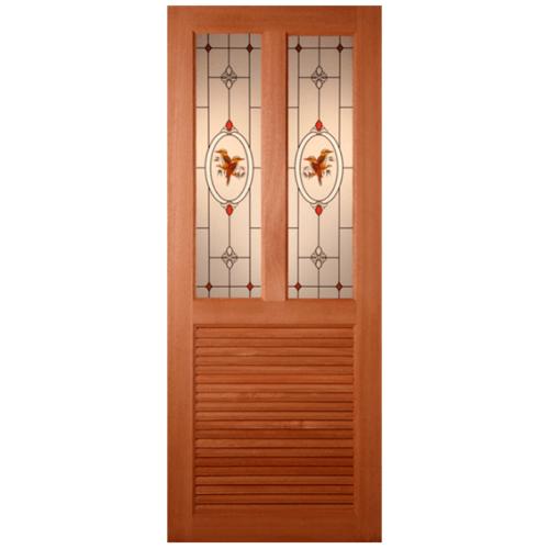 MAZTERDOOR ประตูกระจกไม้นาตาเชีย  100x200cm. SS3/2