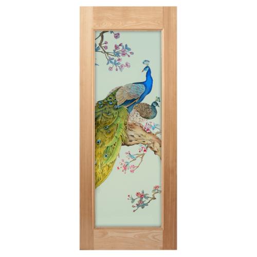 MAZTERDOOR ประตูกระจกไม้นาตาเซีย 100x200 cm.  Master-016