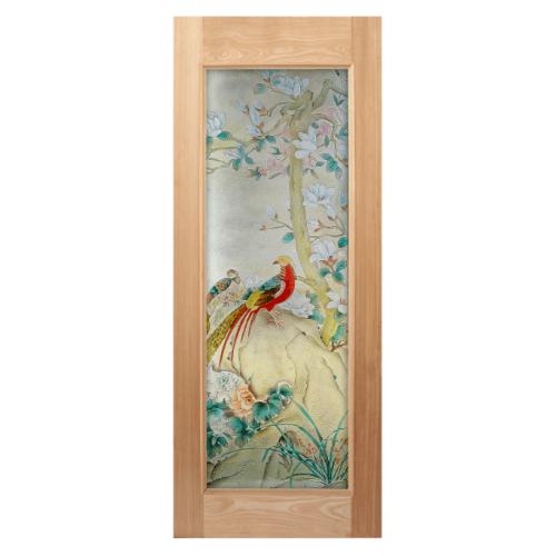 MAZTERDOOR ประตูไม้สยาแดง ขนาด 100x200 cm.  Master-019