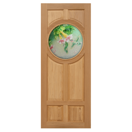 MAZTERDOOR ประตูกระจกสยาแดง ขนาด  90x200  cm.   MASTER-C03