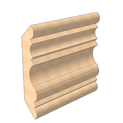 MAZTERDOOR ไม้สัก  (ลายมาก) ขนาด 5/8นิ้ว x3นิ้ว x6.5 ฟุต M.0906