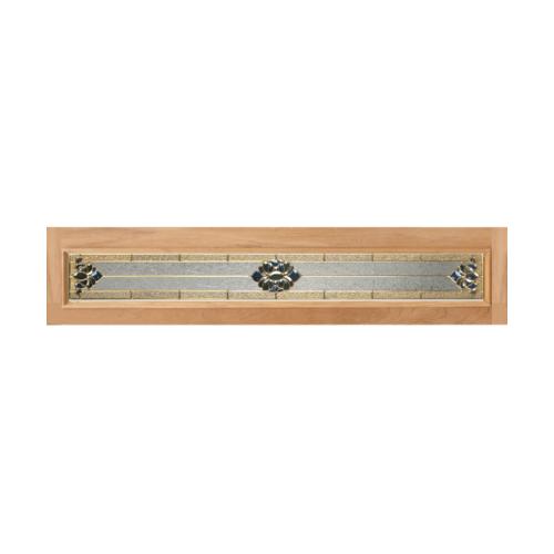 MAZTERDOOR ประตูกระจกสยาแดง ขนาด 40x310 cm.  Jasmine-05 (upper-side)