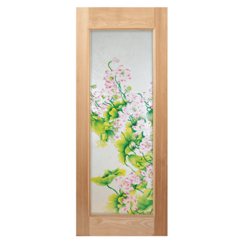 MAZTERDOOR ประตูกระจกไม้นาตาเซีย  70x200 cm. Master-002