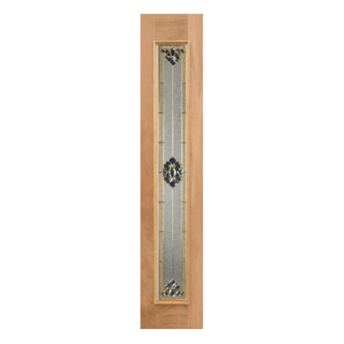 MAZTERDOOR ประตูกระจกไม้สยาแดง 40x160 cm.  Jasmine-05
