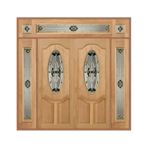 MAZTERDOOR เชท 4 ประตูไม้สยาแดง  ขนาด 240x245  ORCHID-08