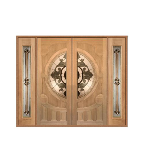 MAZTERDOOR เชท 3 ประตูไม้สยาแดง   ขนาด 260x200 VANDA-01
