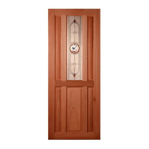 MAZTERDOOR ประตูไม้สยาแดง 80x180cm.  SS 01/1