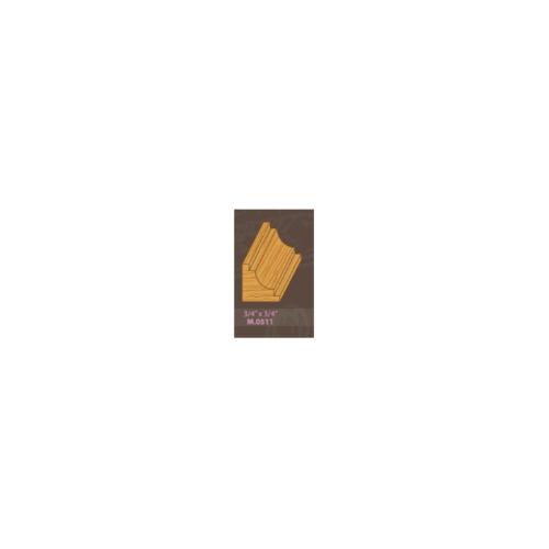 MAZTERDOOR ไม้คิ้วสยาแดง M.0511 เว้า 3/4x3/4x3.0ม. ไม้คิ้วสยาแดง M.0511 เว้า 3/4x3/4x3.0ม.