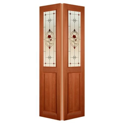 MAZTERDOOR ประตูไม้สยาแดง SET 6 ขนาด 180x240cm.  SS-01/3